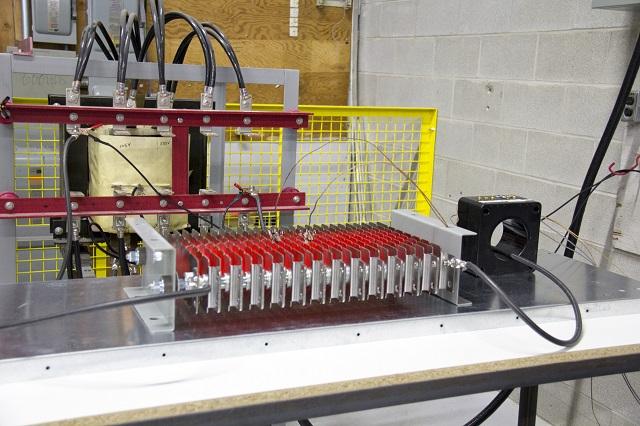 Testing Stamped Grid Resistor